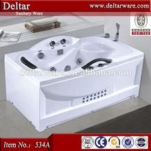 standard dimension one person jet whirlpool bathtub, have handrail bathtub, foshan acrylic bath factory