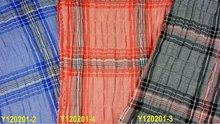 100% yarn dyed seersucker big check