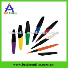 Colorful plastic pen stationery