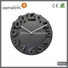 modern big digit 3d wall clock home decor
