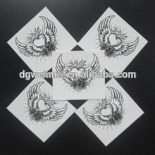 2015 Black heart body art in stock permanent body art tattoo sticker