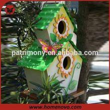 Two-tier indoor decorative wooden bird house