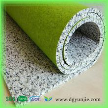 Different lamilation Flooring Accessories Rebond PU Foam Carpet Underlay