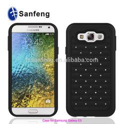Smart Phone Case Cover For Samsung Galaxy E5 Durable Crystal Rhinestone Cases Cover For Samsung
