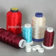 100% Polyester embroidery thread,150 denier polyester filament yarn
