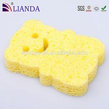 Angolo arrotondato design spugna di cellulosa, progettato su misura spugna di cellulosa, sintetico spugna di cellulosa