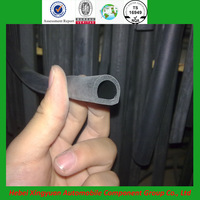 ISO rubber custom extrusions heat resistant rubber sealing strip for machine