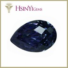 Pear shape amethyst color cubic zirconia gemstone rough