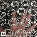 venda quente líquido rendas com fios de ouro de design para vestido de noiva