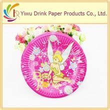 elegant flower design bulk paper plate sizes