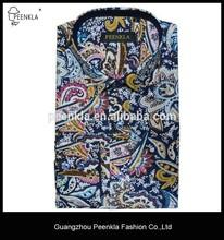slim fit men fashion long sleeve print shirt