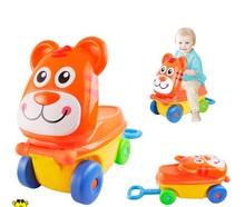 Cartoon children ride on luggage plastic kids bag trolley