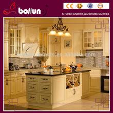 zhongshan supply Minitype modular solid wood kitchen cabinet
