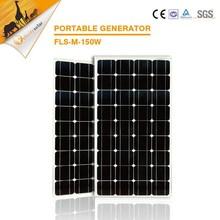 High efficiency monocrystalline 150w 18v output good solar panel price
