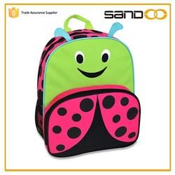 2015 customized kids animal school backpack, cute cartoon child school bag