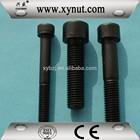 black zinc plated hex socket screws