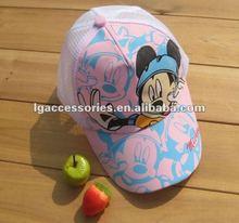 Cute cartoon cap Children's Topee Sunbonnet Peaked Cap