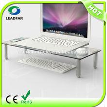 Elegant detachable LCD monitor stand with acrylic pillar