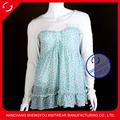 Blusa y camiseta de algodón y chifón para mujer, venta al por mayor de China