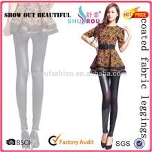 pu leather trousers woman's coated fabric leggings pants
