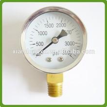 bourdon tube type ss304 pressure gauge