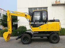 6 ton wheel excavator