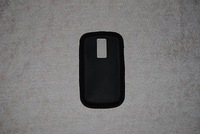 Black soft silicone skin case for Blackberry Bold 9000