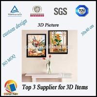 3d picture/3d pictures of flower pots/home decor 3d pictures wholesale