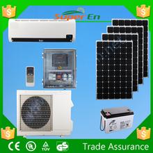off grid 100%solar air conditioner , 48v 12000btu cooling&heating pure dc powered solar air conditioner