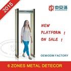 Multiple zones walk through metal detector