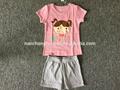 été, 100% 2014 coton sur les enfants portent, vente en gros fille. kid. pyjamas.
