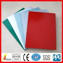 different colour pvdf acp sheet, aluminum composite paneling, aluminum plastic panel