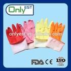 Household gloves pink white