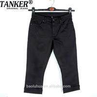 S201271 Big size Women/casure Girls stretchable dark black twill Leisure trousers