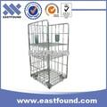 industrial de transporte carrito de almacenamiento de alambre de metal cesta de la carretilla con ruedas