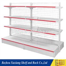 Selective metal grocery store wine display used mesh board racks for slae