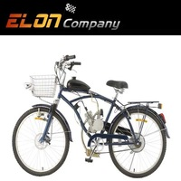 24inch new cheap popular bike passed CE petrol bike two stroke engine 49cc bicycle(E-GS103black)