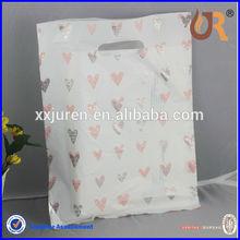 custom printed polythene carrier plastic shopping bags for garment