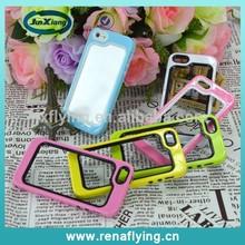Hot selling mobile phone accessories tpu rubber soft rim bumper for iPhone 5