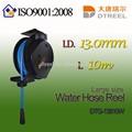 I. D. L 13.0mm 30m dtg-13830w de gran tamaño de agua carrete de la manguera de metal de la rueda cuatro manguera de jardín carrito de carrete