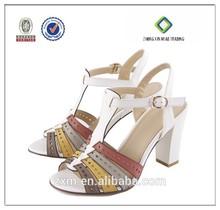 532-BA663 2015 mujeres de moda de mitad de tacón de los Aliexpress los zapatos de la sandalia