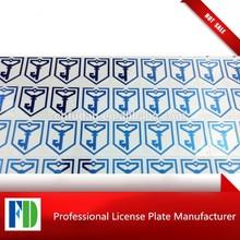 2015 custom self adhesive label metal logo sticker label ,metal logo sticker