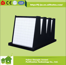 ABS plastic rigid box /aluminum sheet/galvanized steel sheet V bank filter