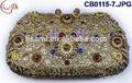 Cb0115-7 2015 nuevo diseño de alta calidad de moda de estilo italiano pequeño bolso de mano pesado con piedras brillantes para la señora disgn