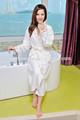 textile à la maison toucher doux peignoir en bambou femmes dorment robe robe en dentelle