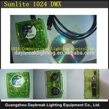 Stage 1024 DMX USB software controller / console Sunlite computer dmx512 USB interface