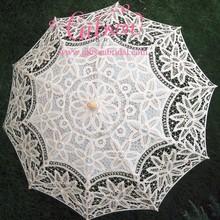 Bridal Wedding Umbrella with Ecru white red colors