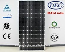 MGSM300-72 300W Monocrystalline solar pv Panels, JET, CB,TUV,CEC,CSA