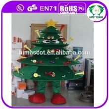 2015 Top selling christmas tree costume cartoon character mascot costumes