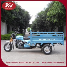 India good quality powerful blue three wheel motor tricycle with 150cc air-cooled engine